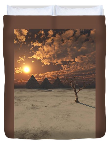 Lost Pyramids Duvet Cover