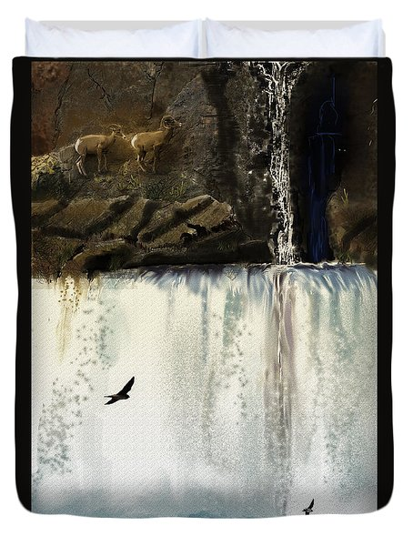 Lost River Duvet Cover by J Griff Griffin