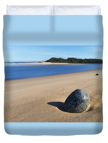Duvet Cover featuring the photograph Lost Stone 01 by Kevin Chippindall