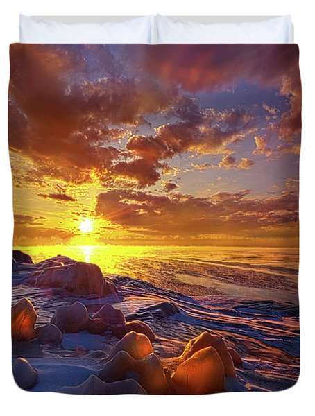 Duvet Cover featuring the photograph Lost Titles, Forgotten Rhymes by Phil Koch