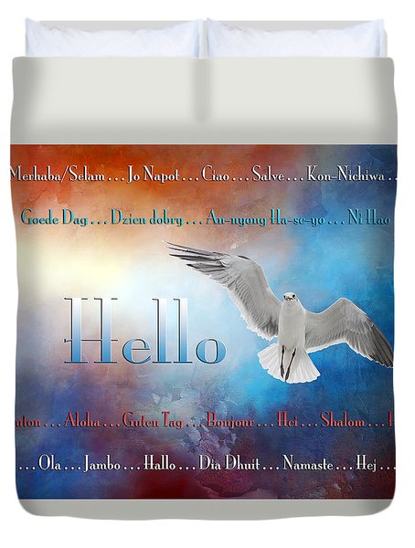 Lots Of Ways To Say Hello Duvet Cover