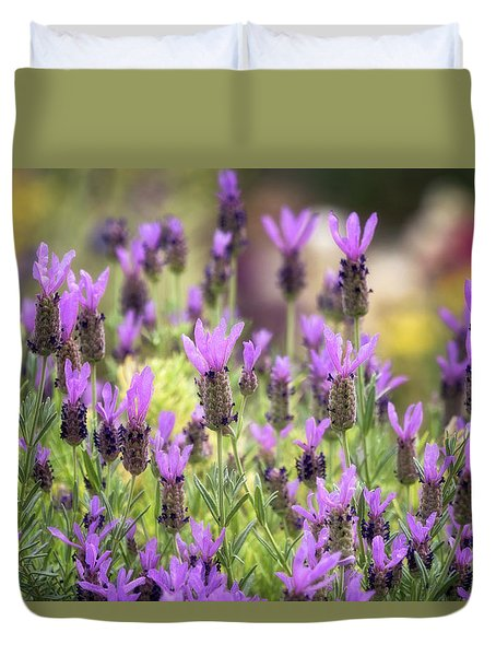 Duvet Cover featuring the photograph Lots Of Lavender  by Saija Lehtonen