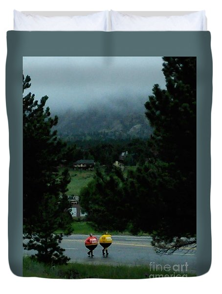 Duvet Cover featuring the photograph Lotto Land by Dave Luebbert