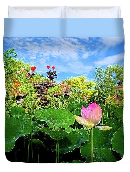 Lotus Alchemy Duvet Cover by William Horden