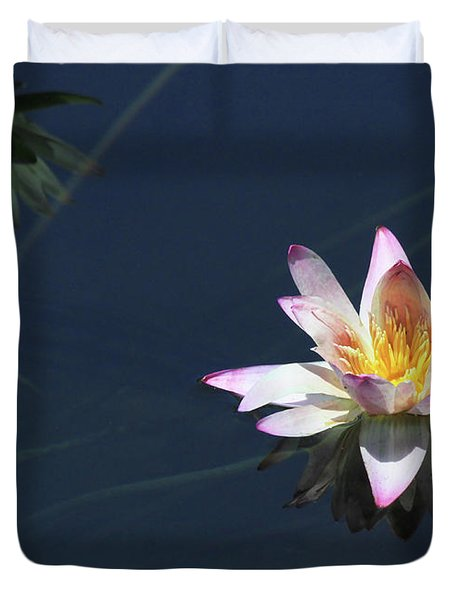 Lotus And Reflection Duvet Cover