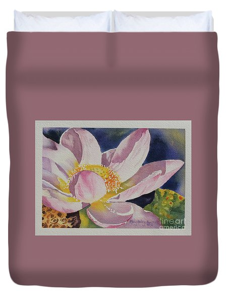 Lotus Bloom Duvet Cover by Mary Haley-Rocks