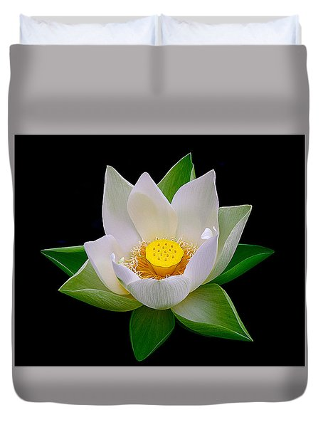 Lotus Blooming Duvet Cover