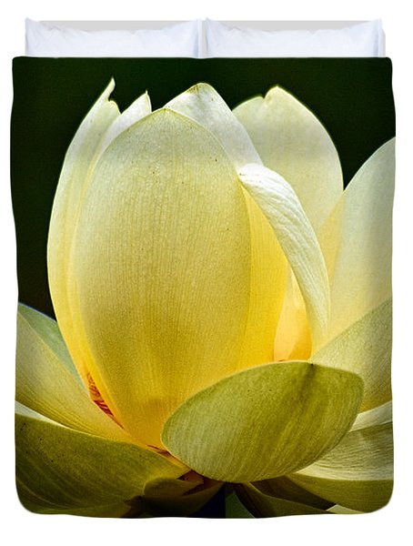 Lotus Blossom Duvet Cover by Christopher Holmes