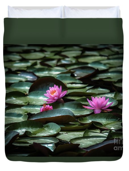 Lotus Duvet Cover by Brenda Bostic
