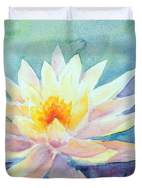 Lotus Awakens Duvet Cover