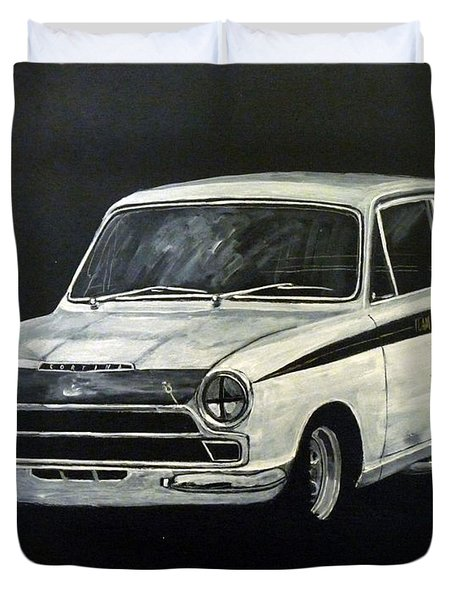 Duvet Cover featuring the painting Lotus Cortina by Richard Le Page