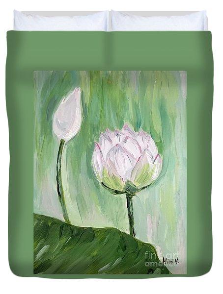 Lotus Emerging Duvet Cover