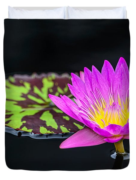 Lotus Flower And Pad Duvet Cover