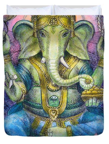 Lotus Ganesha Duvet Cover