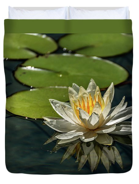 Lotus Duvet Cover by Martina Thompson