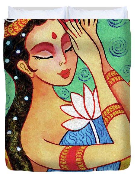 Lotus Meditation Duvet Cover