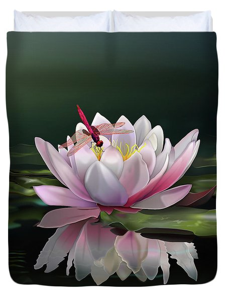 Lotus Meditation Duvet Cover by Rosa Cobos