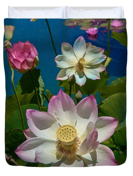 Lotus Pool Duvet Cover