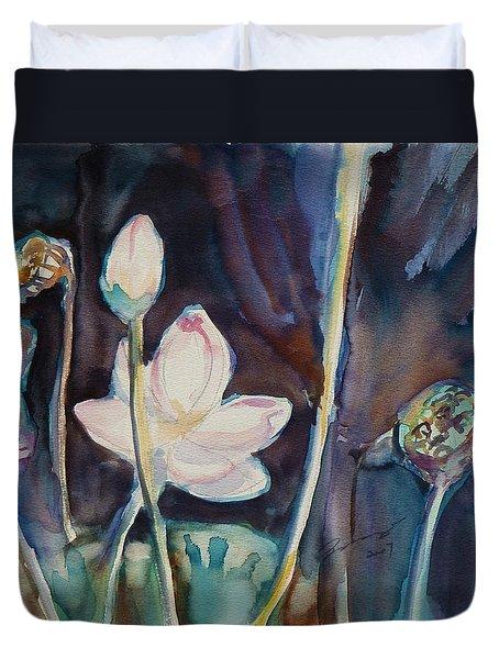 Lotus Study II Duvet Cover
