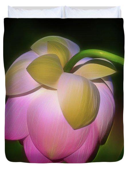 Lotus, Upside Down  Duvet Cover