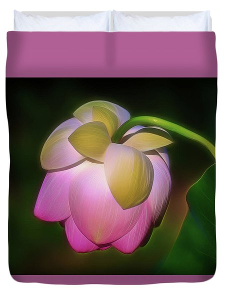 Lotus, Upside Down  Duvet Cover