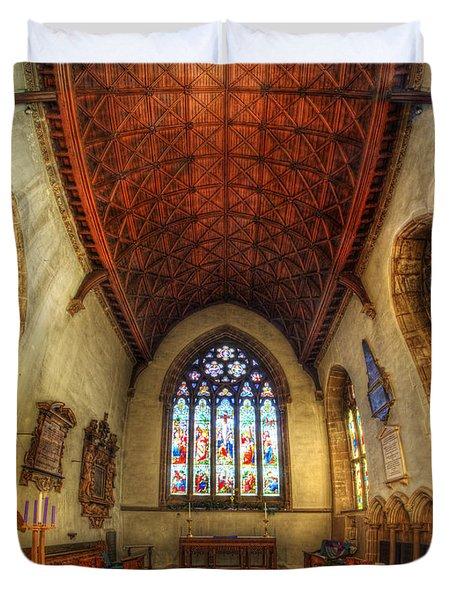 Loughborough Church - Altar Vertorama Duvet Cover