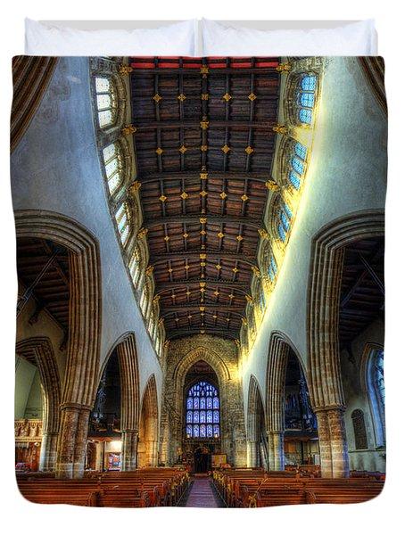 Loughborough Church - Nave Vertorama Duvet Cover