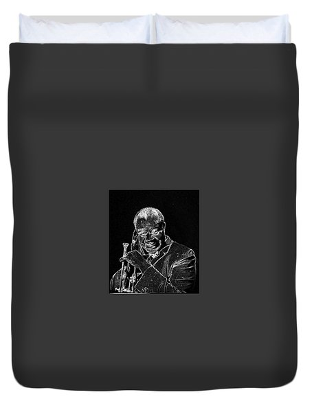 Louis Armstrong Duvet Cover by Charles Shoup