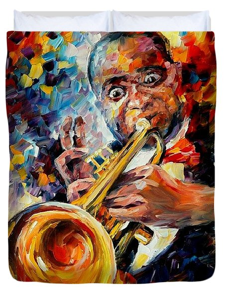 Louis Armstrong Duvet Cover by Leonid Afremov