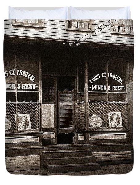 Louis Czarniecki Miners Rest 209 George Ave Parsons Pennsylvania Duvet Cover
