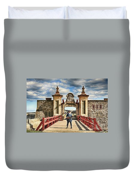 Louisbourg Fortress, Nova Scotia Duvet Cover