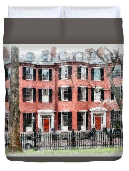 Louisburg Square Beacon Hill Boston Duvet Cover