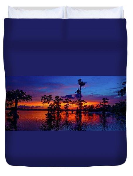 Louisiana Blue Salute Reprise Duvet Cover
