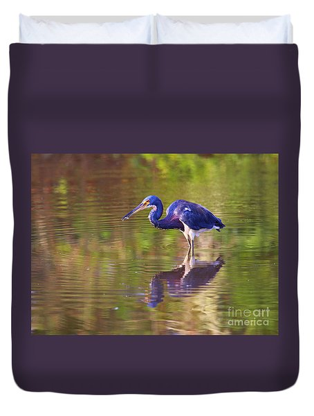 Louisiana Heron Duvet Cover