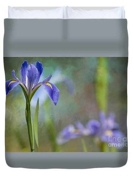 Duvet Cover featuring the photograph Louisiana Iris by Bonnie Barry