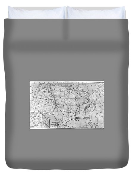 Louisiana Purchase Map Duvet Cover