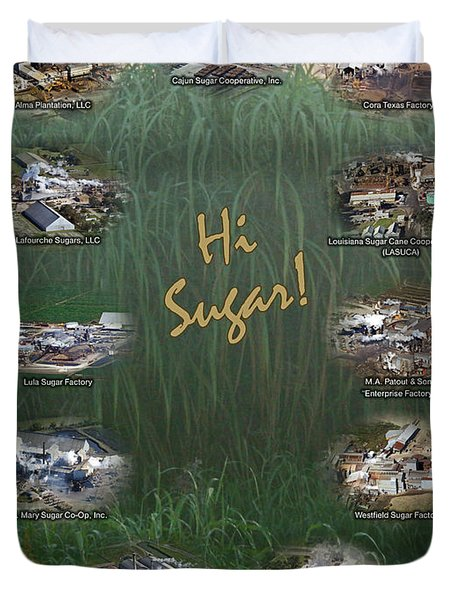 Louisiana Sugar Cane Poster 2008-2009 Duvet Cover by Ronald Olivier