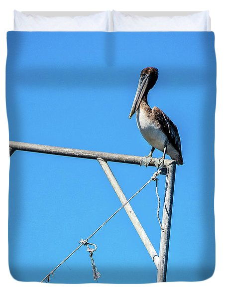 Louisiana's State Bird Duvet Cover