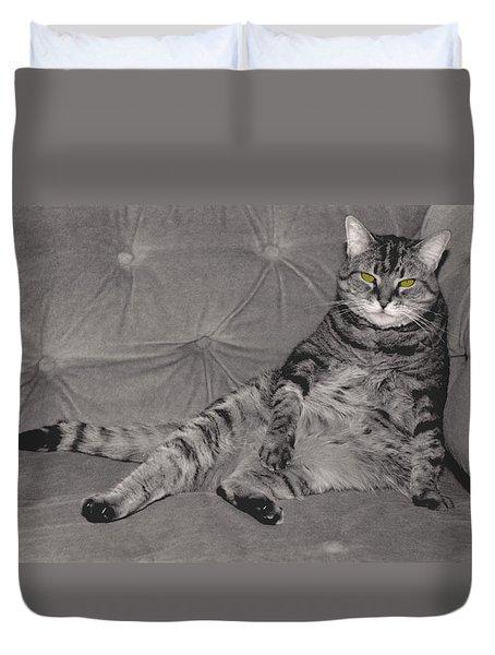 Lounge Cat Duvet Cover by Joy McKenzie