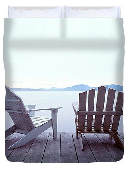 Lounge Chairs Moosehead Lake Me Duvet Cover