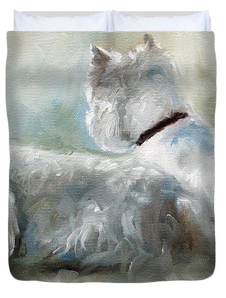 Lounge Duvet Cover by Mary Sparrow