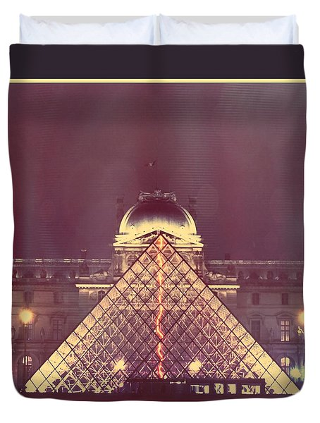 Louvre Palace And Pyramid Duvet Cover