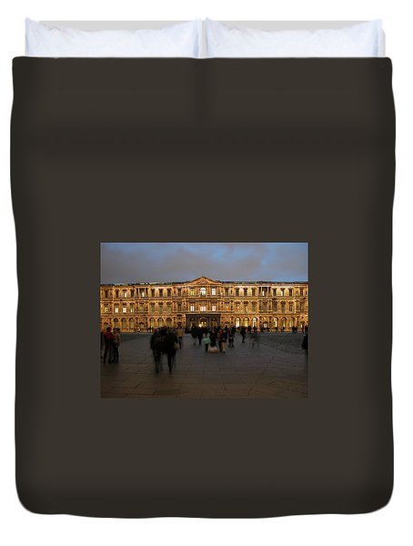 Duvet Cover featuring the photograph Louvre Palace, Cour Carree by Mark Czerniec