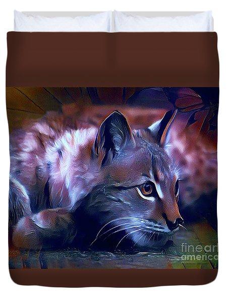 Lovable Feline Duvet Cover