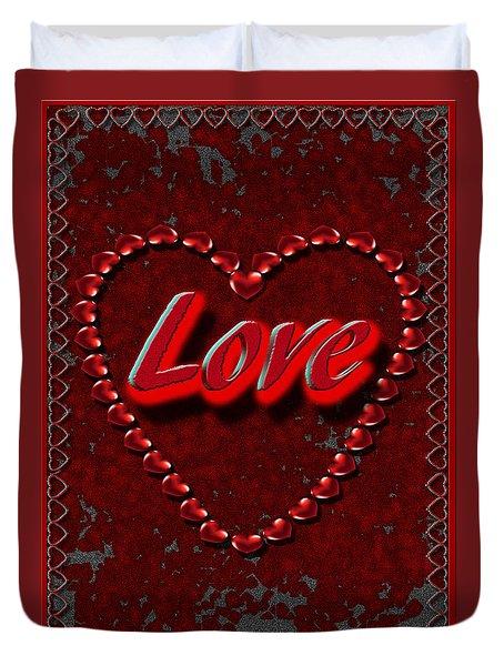 Duvet Cover featuring the digital art Love 101 by Michelle Audas