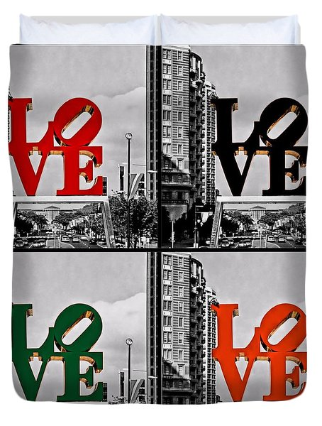 Duvet Cover featuring the photograph Love 4 All by DJ Florek