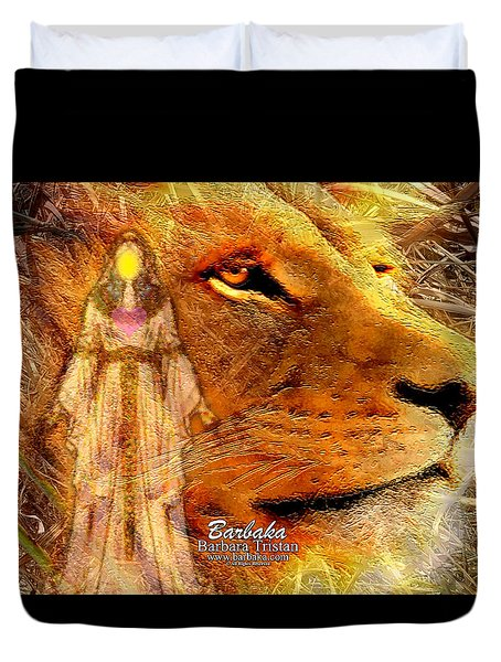 Duvet Cover featuring the digital art Love 444 Cecil by Barbara Tristan