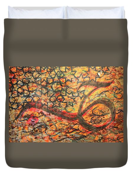 Love, A Pattern Of Life Duvet Cover