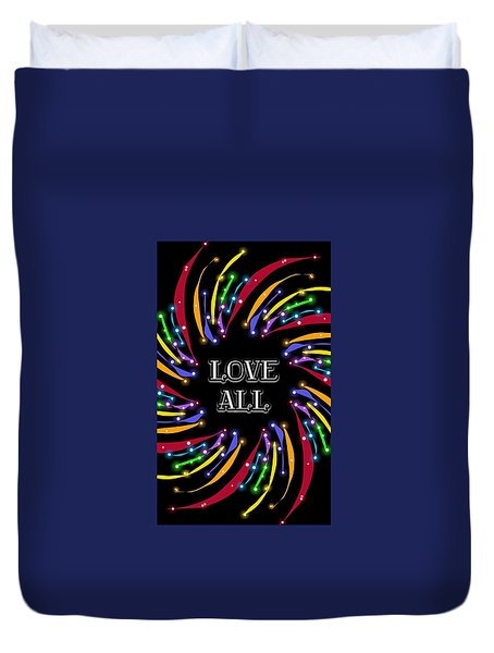 Love All Twinkling Rainbow Duvet Cover