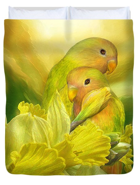 Love Among The Daffodils Duvet Cover